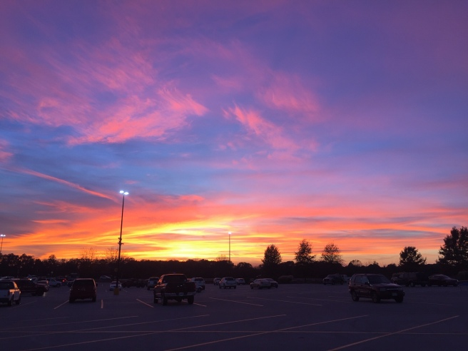 parking lot sunset